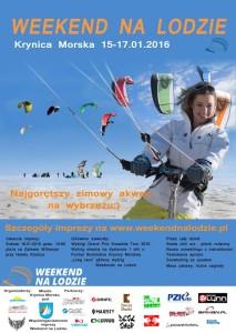 """""""Weekend na lodzie"""" -  największa snowkitowa impreza sportowa w  Krynicy Morskiej odbędzie się w dniach w dniach  16-17.01.2016, godz. 10:00-16:00.   Zapraszamy na najgorętszy zimowy akwen wybrzeża już w piątek od 20.00 na inaugurację do Hotelu Krynica."""