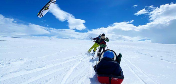 Snowkite w Norwegii